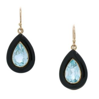 Topaz & Onyx Earrings