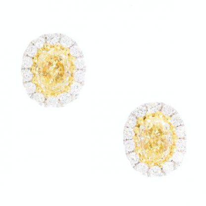 Yellow Diamond Studs