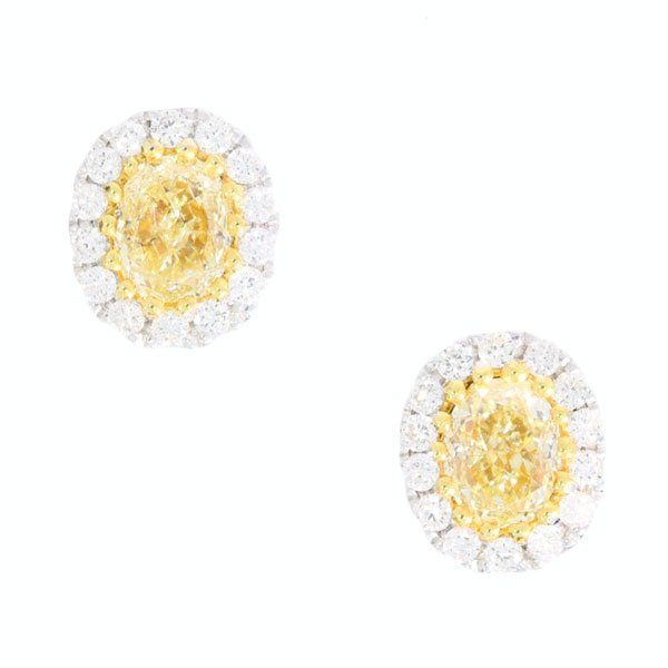 Yellow Diamond Studs