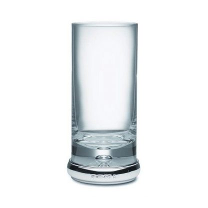 Tall Silver Drinking Glass