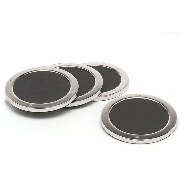 Silver & Slate Coasters