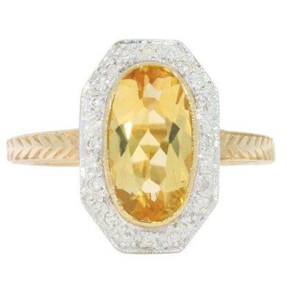 9ct Gold Citrine Ring