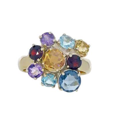 Quartz Cluster Ring
