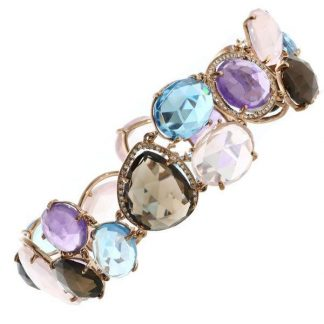 Quartz & Diamond Bracelet