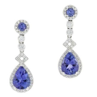 Art Deco Tanzanite Drops