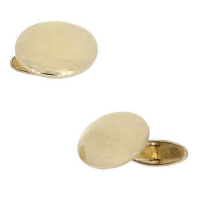 Domed oval cufflinks