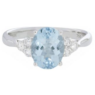 Aqua and Diamond Ring