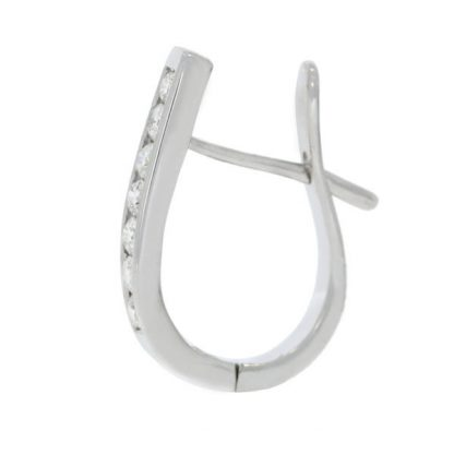 diamond huggie hoop side