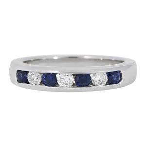 7 stone channel set ring