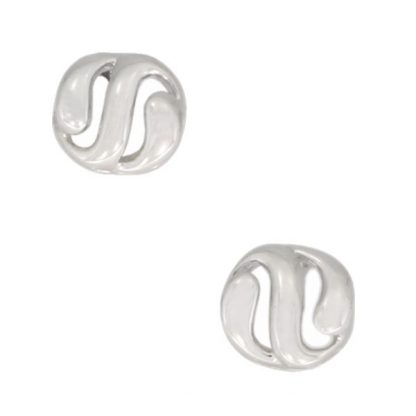 9ct White Gold Studs