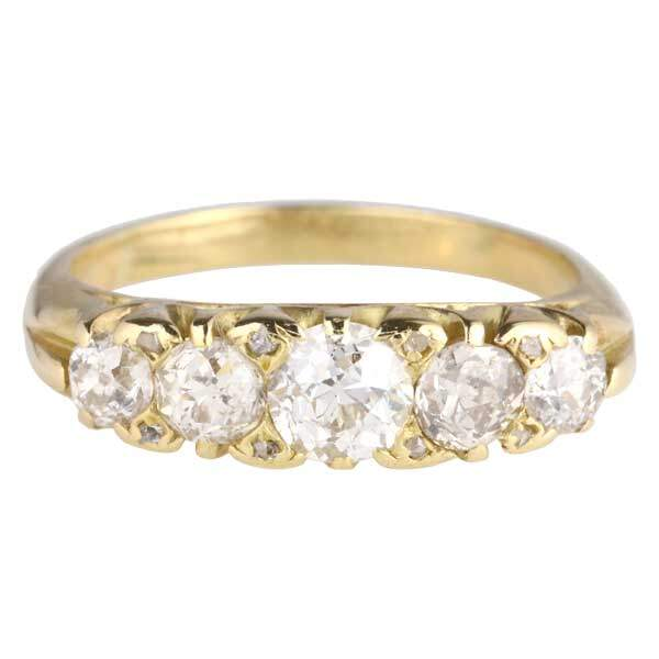 Old cut 5 stone ring