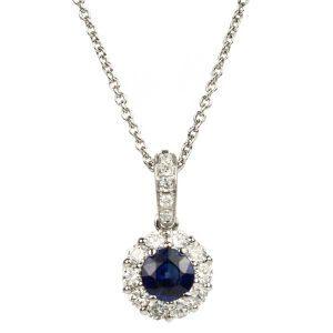 Sapphire Cluster Pendant