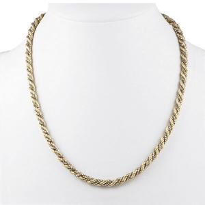 Two Colour Gold Necklace