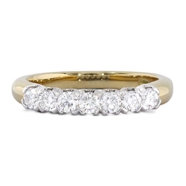 18ct 7 stone ring