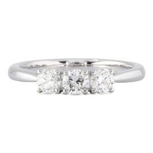 0.57ct 3 Stone Diamond Ring
