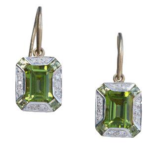 Peridot & Diamond Drops
