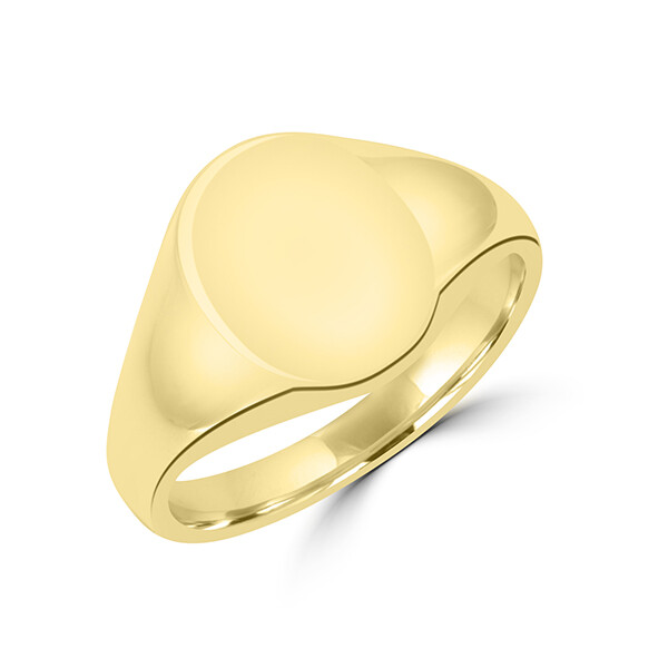 Oval Signet Ring 10x13mm