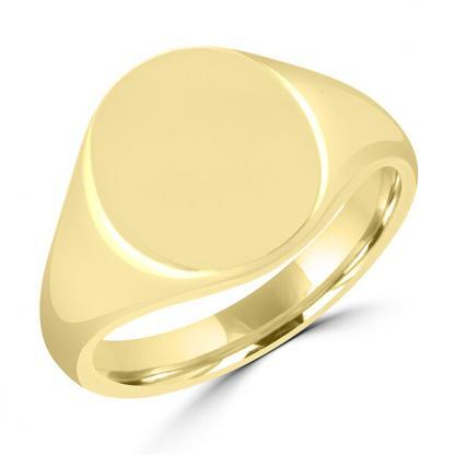 Oval Signet Ring 12x14mm