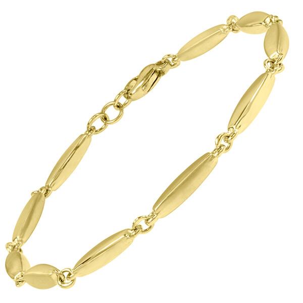 9ct wave link bracelet