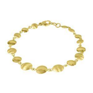 9ct Gold Disc Bracelet