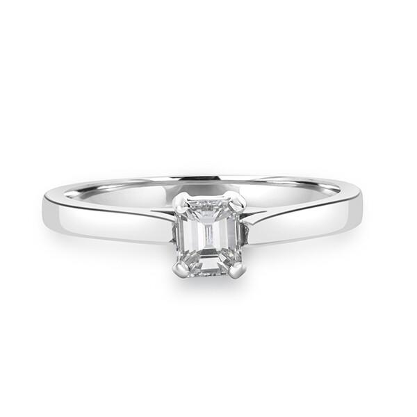 0.53ct Emerald Cut Diamond Ring