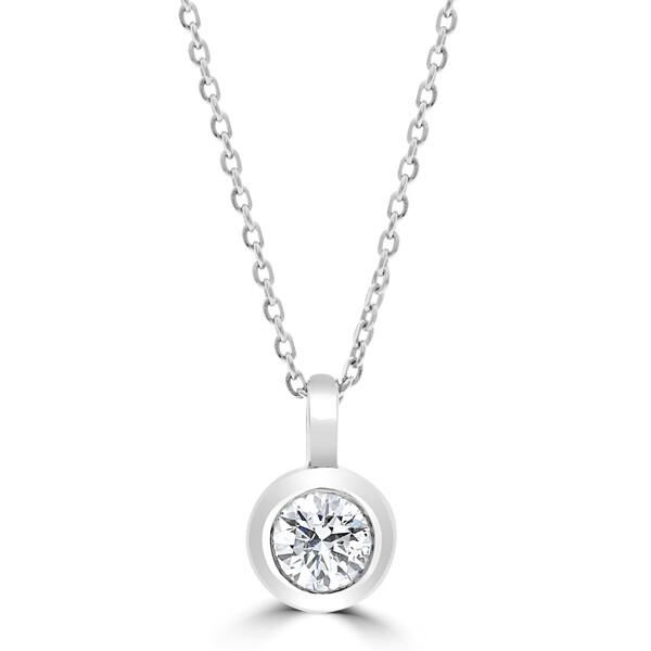 0.61cr Rub-over diamond pendant
