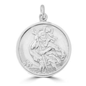 9ct White Gold St Christopher