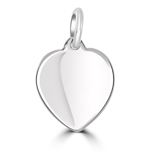 Silver Heart Tag