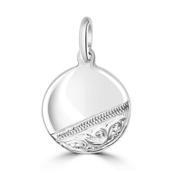 Engraved Silver Tag