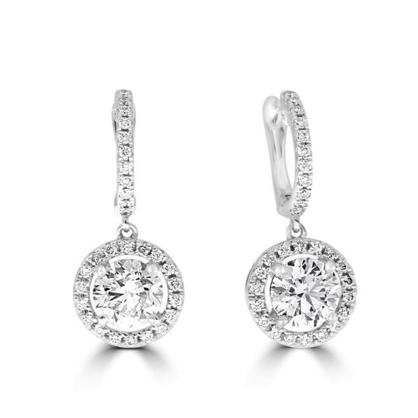 Diamond Halo Earrings