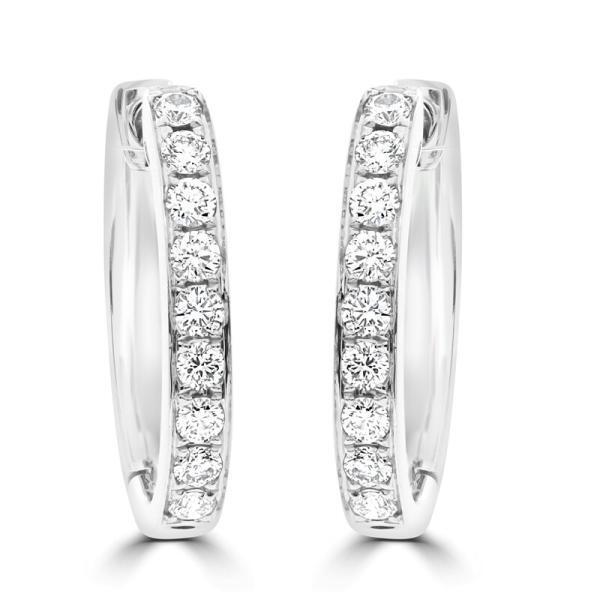 18ct Diamond Huggies