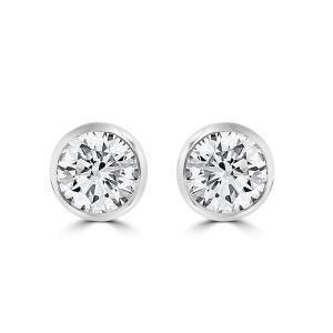 1.24ct Rub Over earrings