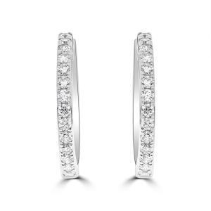 Large Diamond Hoops