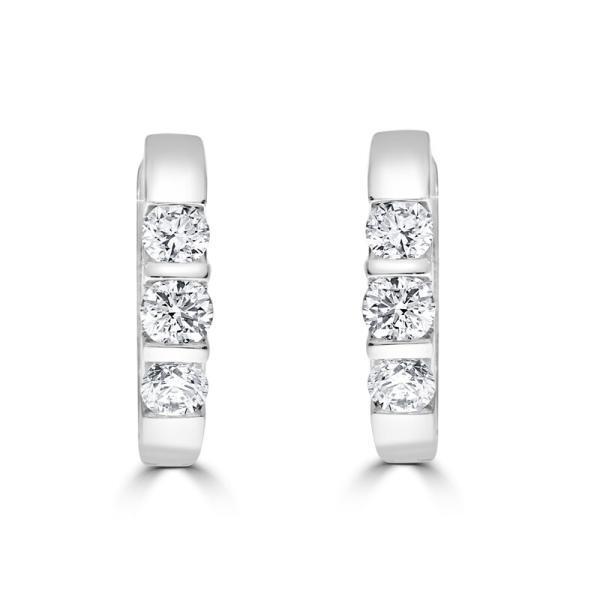 Bar Set Diamond Huggies