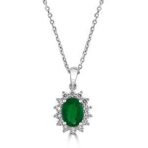 Emerald Cluster Pendant