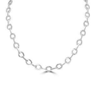 Bar & Oval Link Necklace